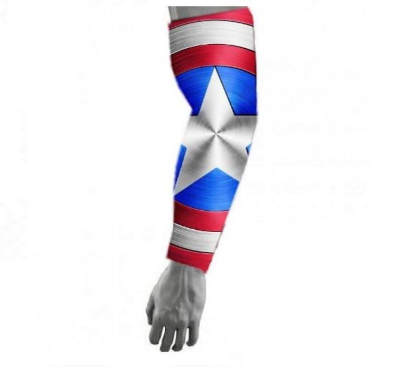Baseball Football Compression Sports Arm Sleeve Captain America Civil War 2pc Set
