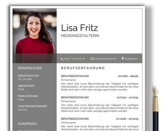 German Resume Template Word and Pages