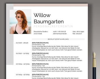 Modern CV Template german Word & Pages Application Template