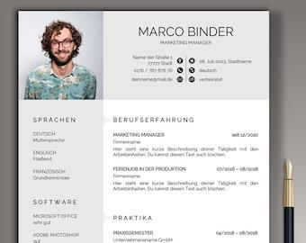 Professional application template german CV template