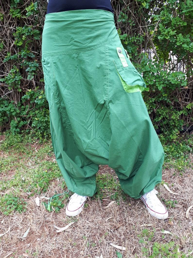 Cotton harem pants Unisex drop crotch cotton trouser Harem trouser for him  her One size afgan pants Comfortable wide baggy yoga pants