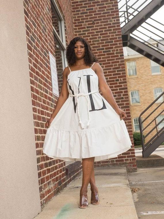 VLTN Maxi Dress, 1990s Dress. White Dress