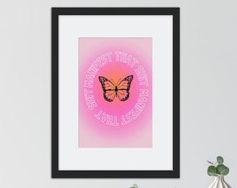 "Light Pink Manifest that Shit print 8 1/2 x 11"""