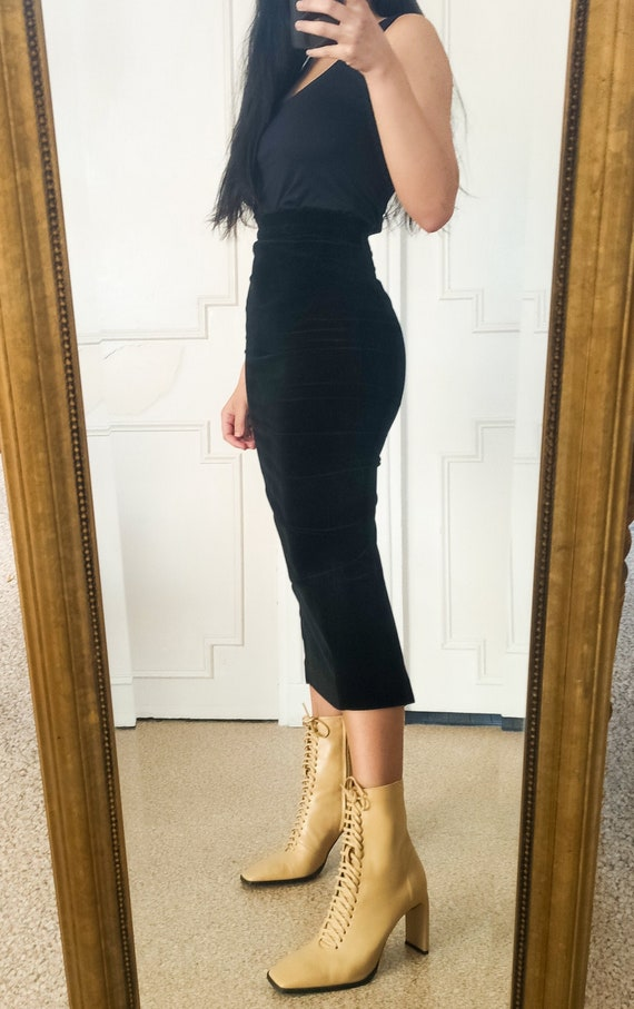 Velvet sheath skirt - Paule Ka - Vintage
