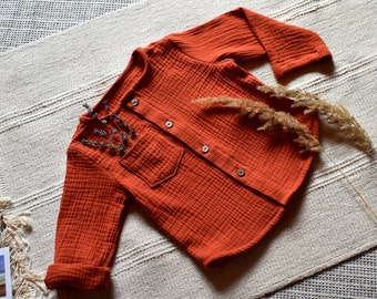 stripy linen top Baby boy linen clothes baby linen top sizes 0m baby linen shirt gender neutral linen shirt kids linen shirt 6y