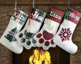 personalized christmas stockings dog
