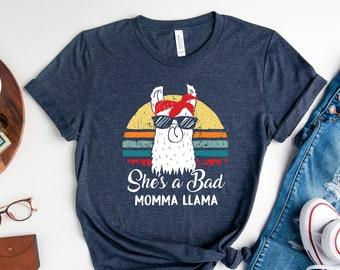 Funny Mom Shirt, Bad Mama Llama Shirt, Mother's Day Shirt, Mom of Boys Shirt, Mom of Both Shirt, Twin Mom Shirt, Mom Life, Sassy Mom Shirt