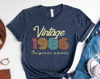 35th Birthday Shirt, Vintage 1986 Shirt, 35th Birthday Gift Women, 35 Years Birthday Shirt, 1986 Birthday Shirt, Retro 35th Birthday Tee