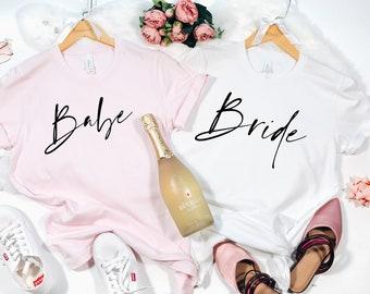 Bachelorette Party Shirts, Bride Babe Shirts, Bridal Party Shirts, Bachelorette Gifts, Bachelorette Shirts, Bride Babe V-Neck Shirts