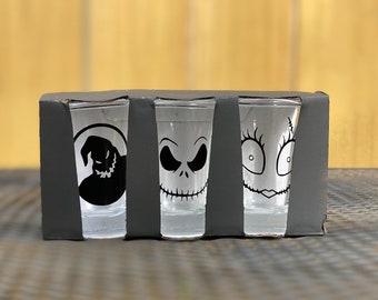 Halloween inspired shot glasses