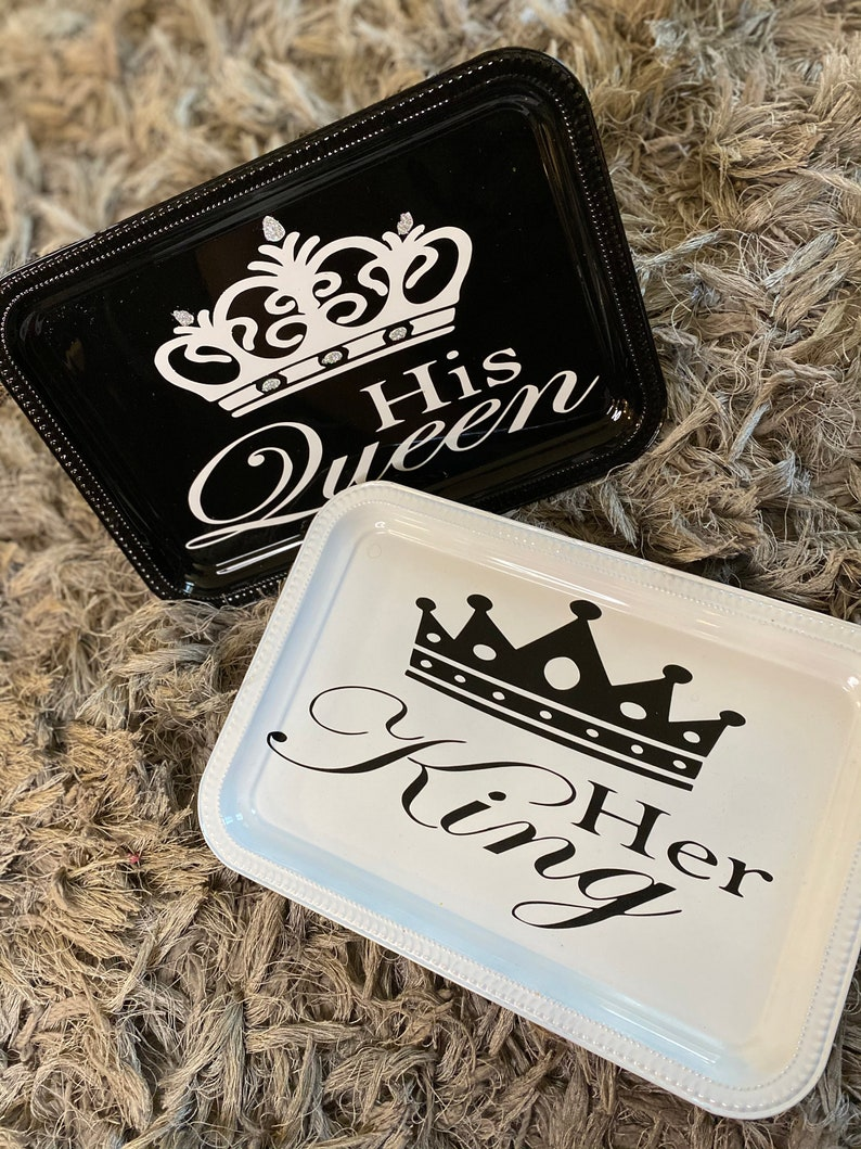 His and hers Rolling Tray Set