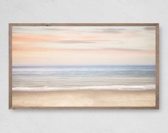 Samsung Frame TV Art, Perfect Pastel Beach Sunset, Beach Fun, Instant Download, Samsung Art TV, Digital Download for Samsung Frame