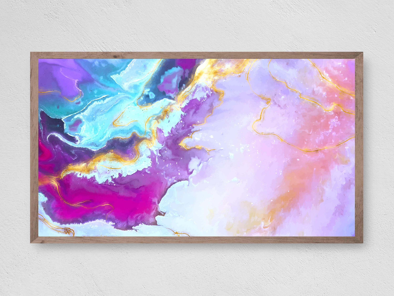 Samsung Frame TV Art Abstract Landscape Painting Instant Download Frame TV Art