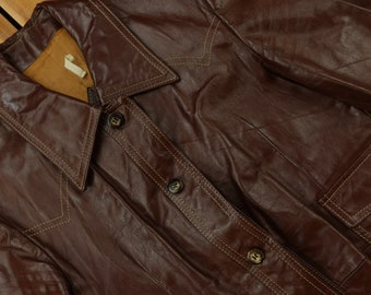 Made in Spain Vintage faux brown furry Jacket 2 pockets on the sides Size; S-M