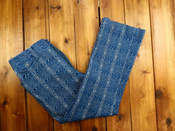 Vintage Abstract Pattern Pants Size 38 D18