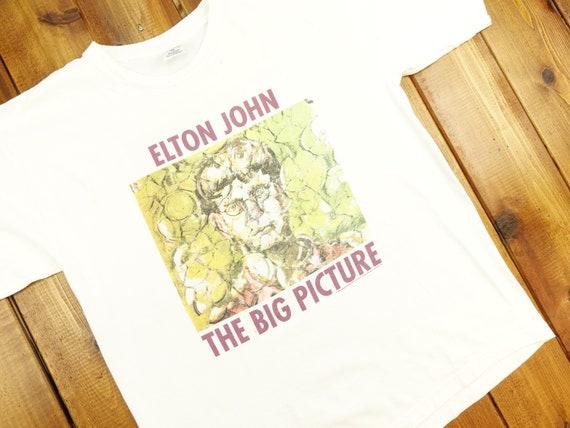 """1997 Elton John """"The Big Picture"""" T Shirt Size XL"""