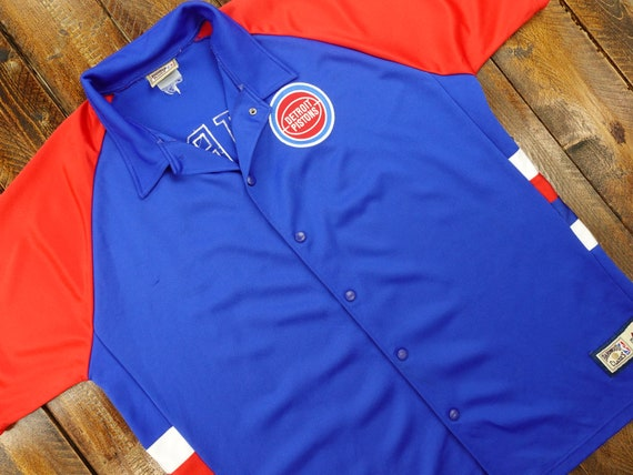 Detroit Pistons Vintage 90s Champion Warm Up Shooting Shirt