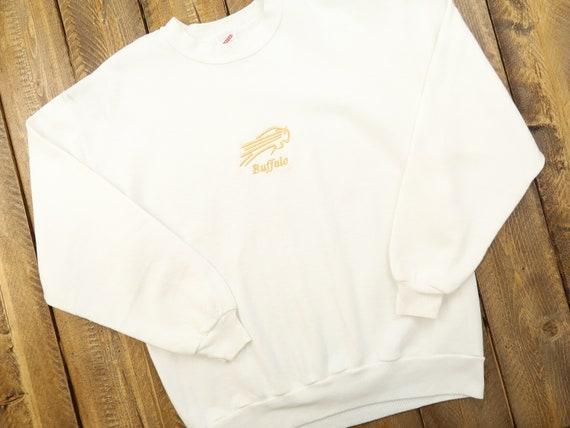 Buffalo Bills Vintage Golden Embroidered Sweatshir
