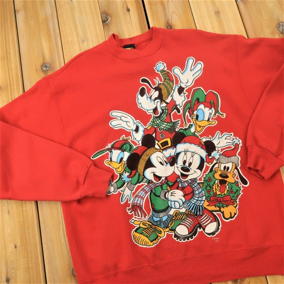 Vintage Disney Christmas Theme Sweater Size LargeA