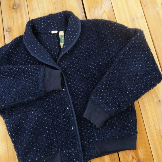 Vintage LL Bean Fleece Sweater Size Womens LargeA1