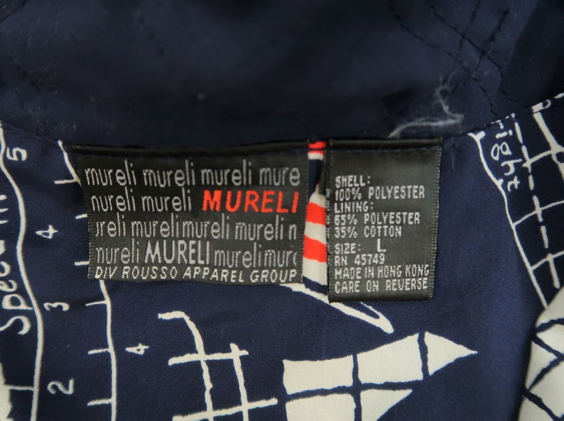 Vintage Murelli Nautical Graphic Windbreaker Size Women/'s Large D24