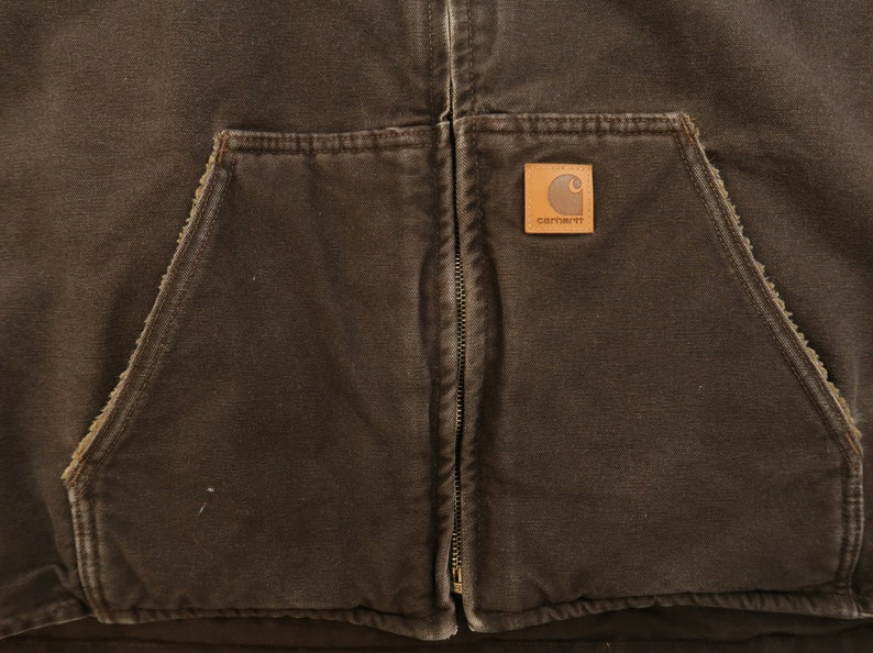 Vintage Carhartt Fleece Lined Vest Size 3XL Z10