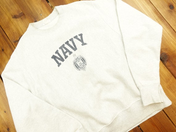 Navy Champion Reverse Weave Crewneck Vintage 90s S