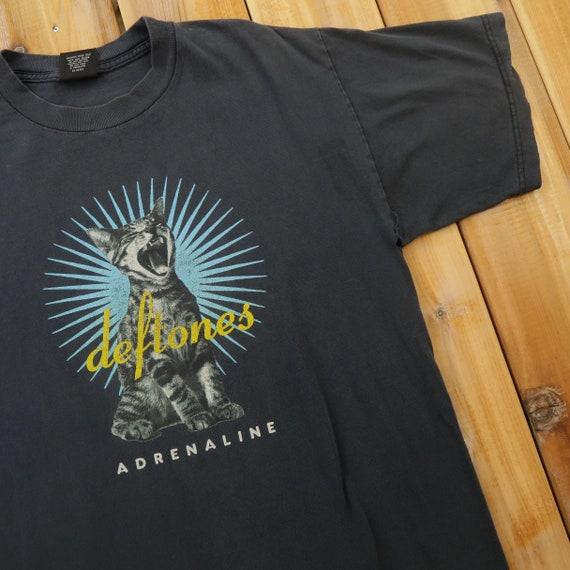 Deftones Adrenaline Screaming Cat Band Vintage T S