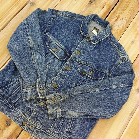 Lee Distressed Acid Washed Vintage Denim Jacket Si