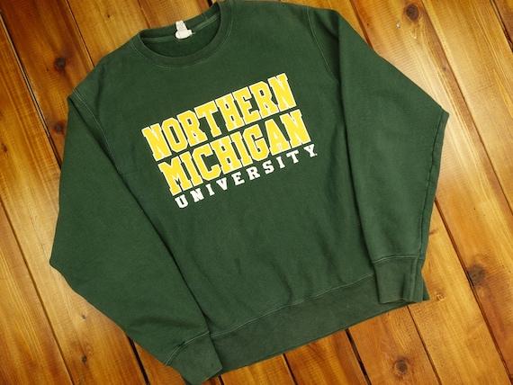 90s Northern Michigan University Reverse Weave Cha