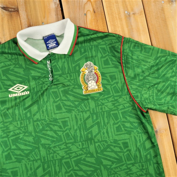 Umbro 1992 Mexico Soccer Jersey Size Large