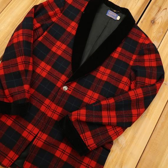 Pendleton Woolen Mills Plaid Wool Blazer Size Medi