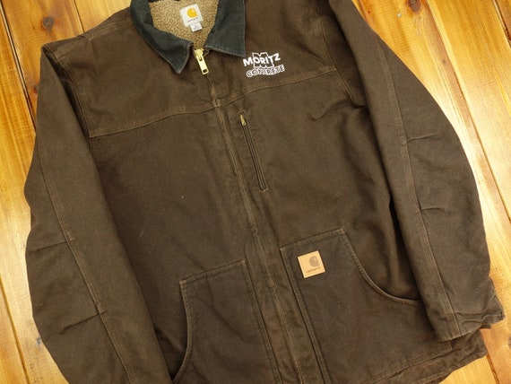 Carhartt Sherpa Lined Chore Jacket Size Large D13