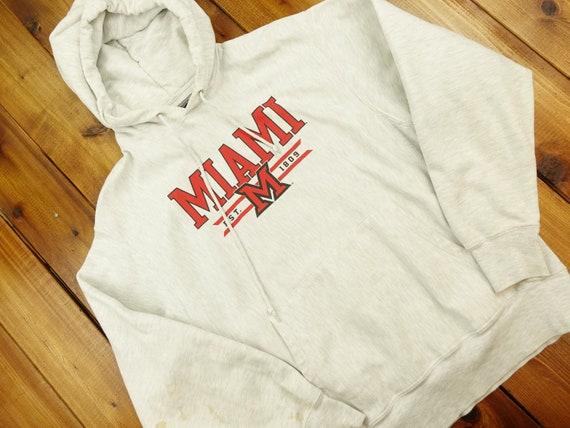 Champion Reverse Weave Miami University Hoodie Siz