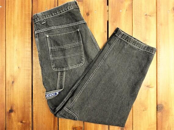 90s Denim Jacket 90s Karl Kani Mens Large 30x32 Denim Jean Jacket Jeans Suit Anime 90s Karl Kani Jeans Vintage Karl Kani Suit 90s Mens