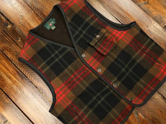 Vintage J Crew Wool Vest Size Large