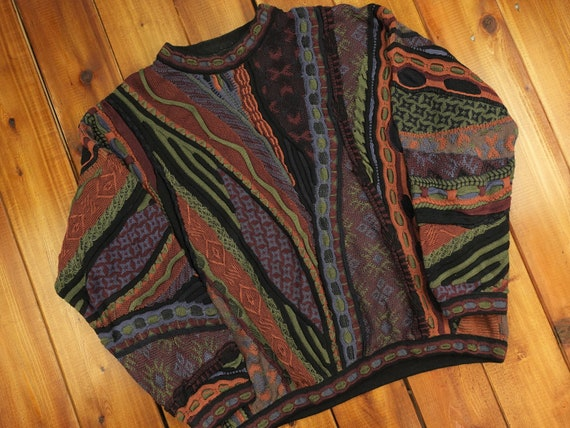 Baracuta By Tundra Vintage Textured Patterned Knit