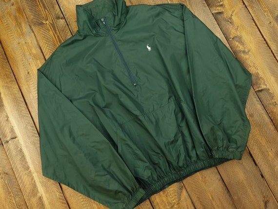 90s Polo Ralph Lauren Quarter Zip Windbreaker Size