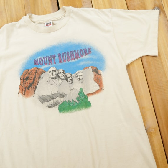 Mount Rushmore Funny Single Stitch T Shirt Size La