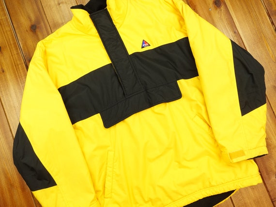90s Fila Tech Quarter Zip Fleece Lined Jacket Size