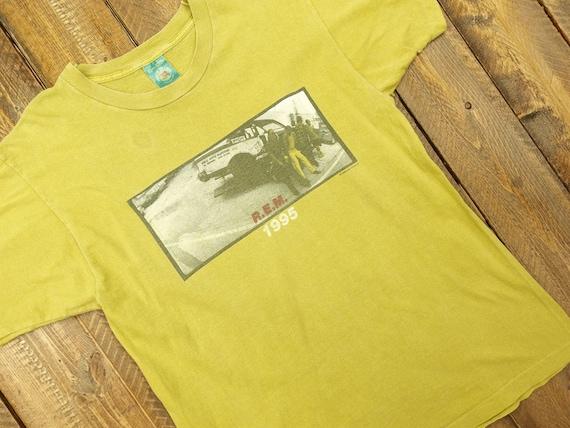 1995 R.E.M Single Stitch Tour T-Shirt Size XL D9