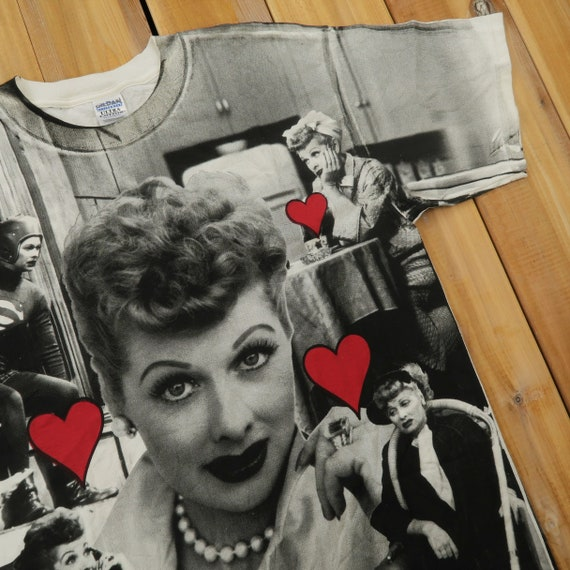 I Love Lucy 50s TV Show  All over Print 90s T shir