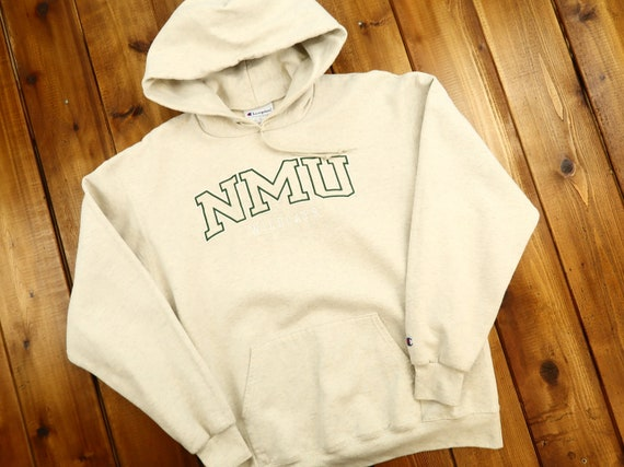 NMU Wildcats Vintage Champion Hoodie Size Large