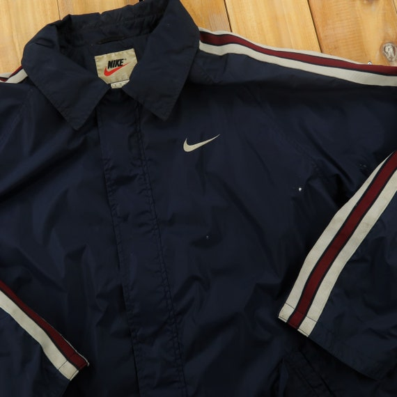 Nike Embroidered Swoosh Taped Windbreaker Size XL