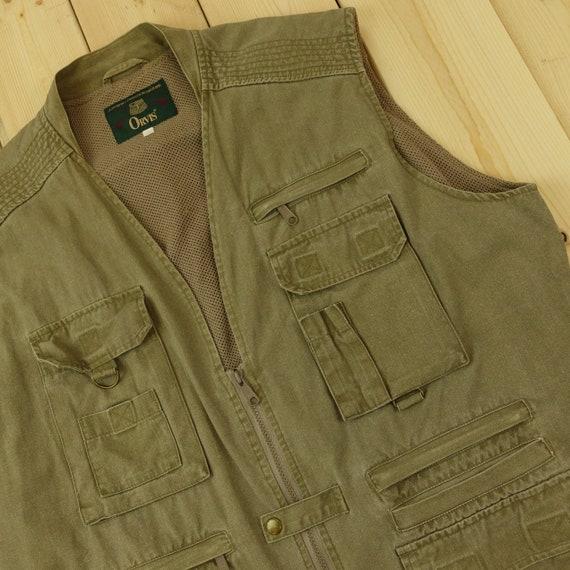 Orvis Vintage Zip-Up Fishing Vest Size XL D3
