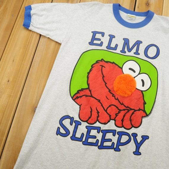 Vintage Elmo Sesame Street Lounge T Shirt One Size