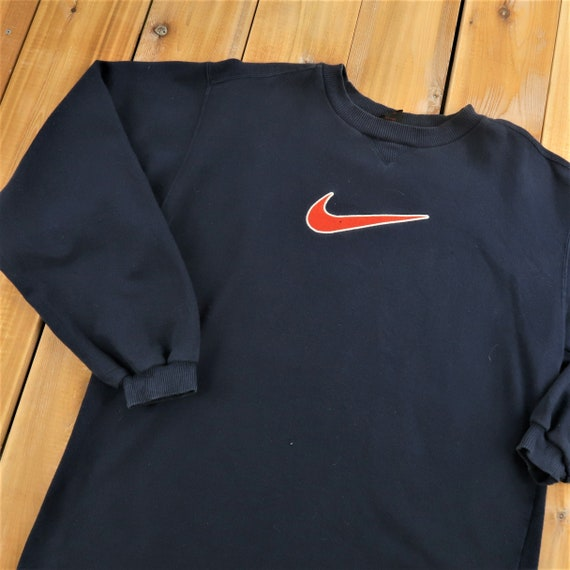 90s Nike Swoosh Crew Neck Sweater Size Youth XL