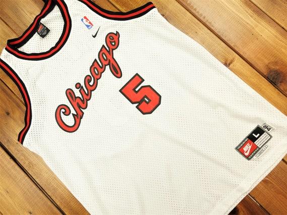 Jalen Rose Chicago Bulls NBA Vintage Nike Jersey S