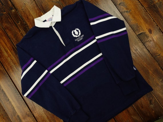 Vintage Halbro Rugby Clothing Scotland Rugby Shirt