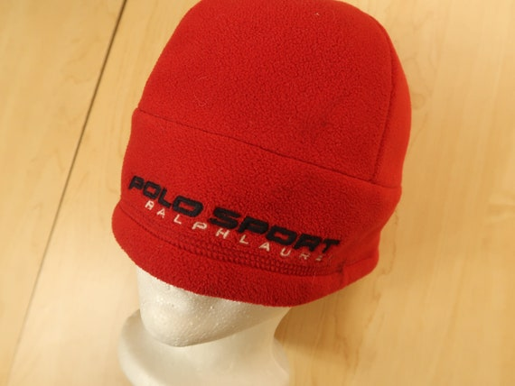 Vintage Polo Sport Fleece Beanie Hat D8
